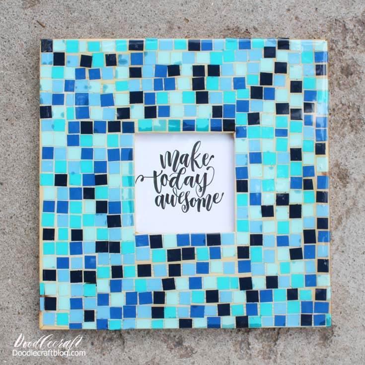 Paper Mosaic Resin Picture Frame