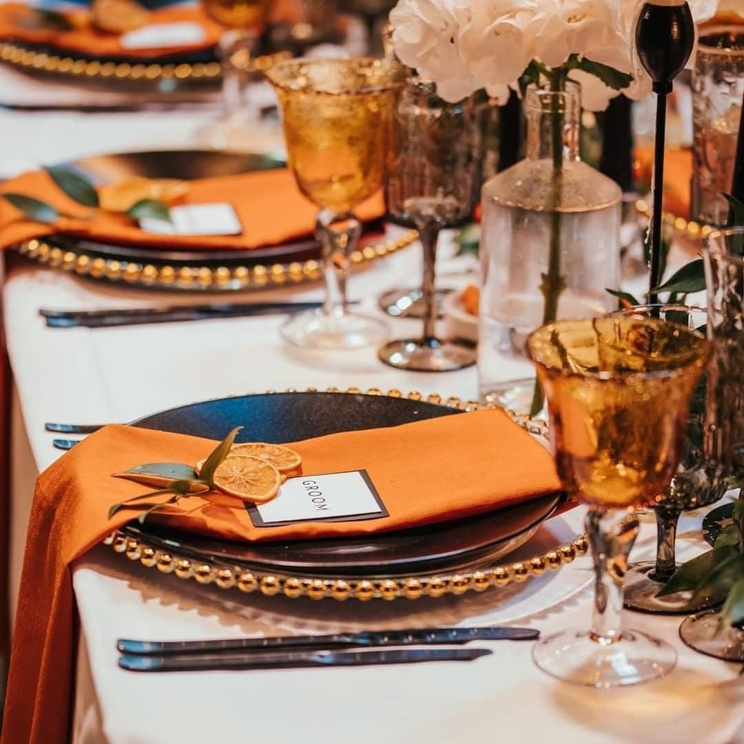 Orange decor and orange slices