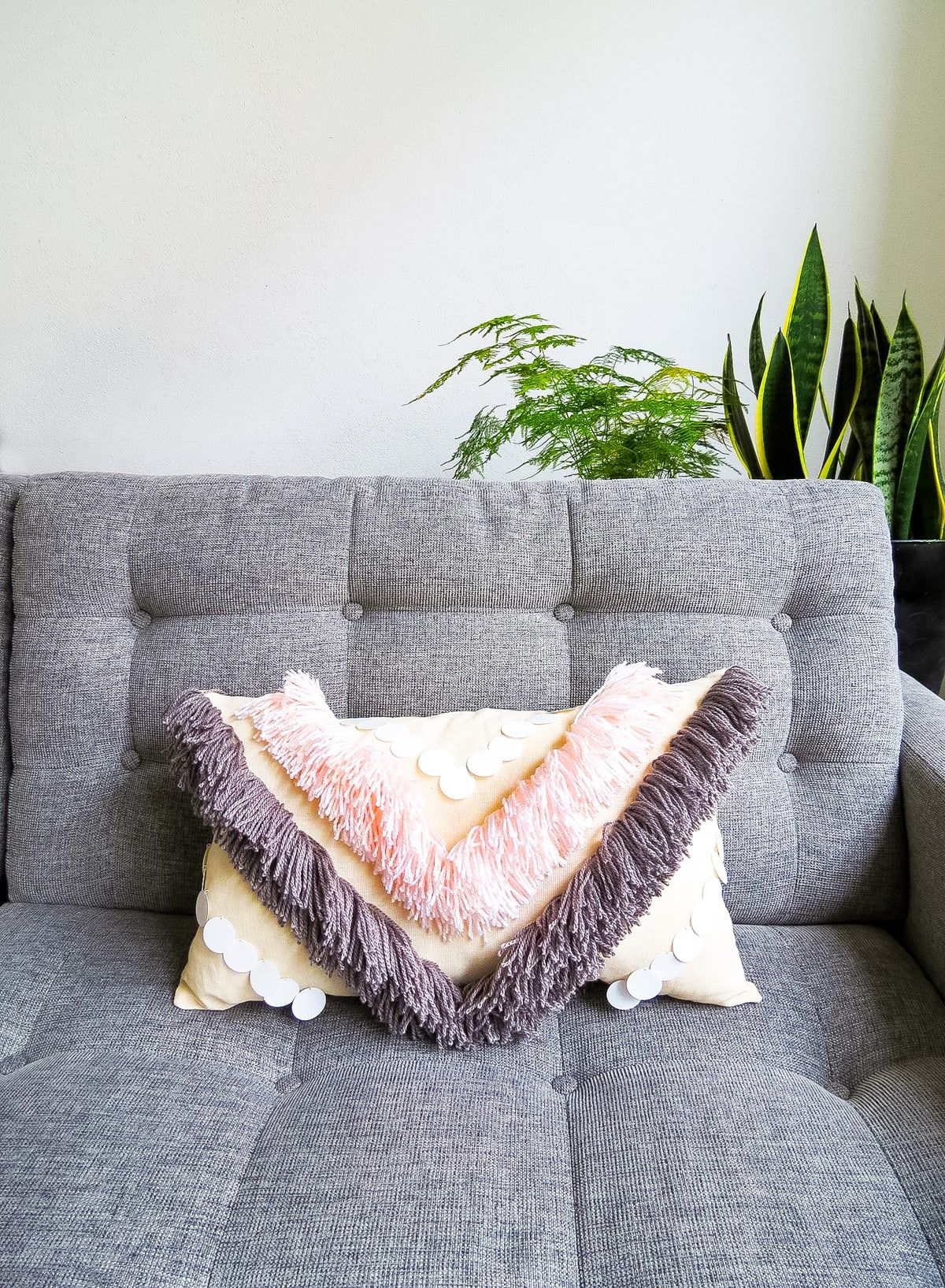 DIY Fringed Pillows