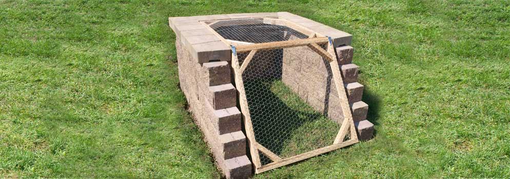 Stone Block Compost Bin
