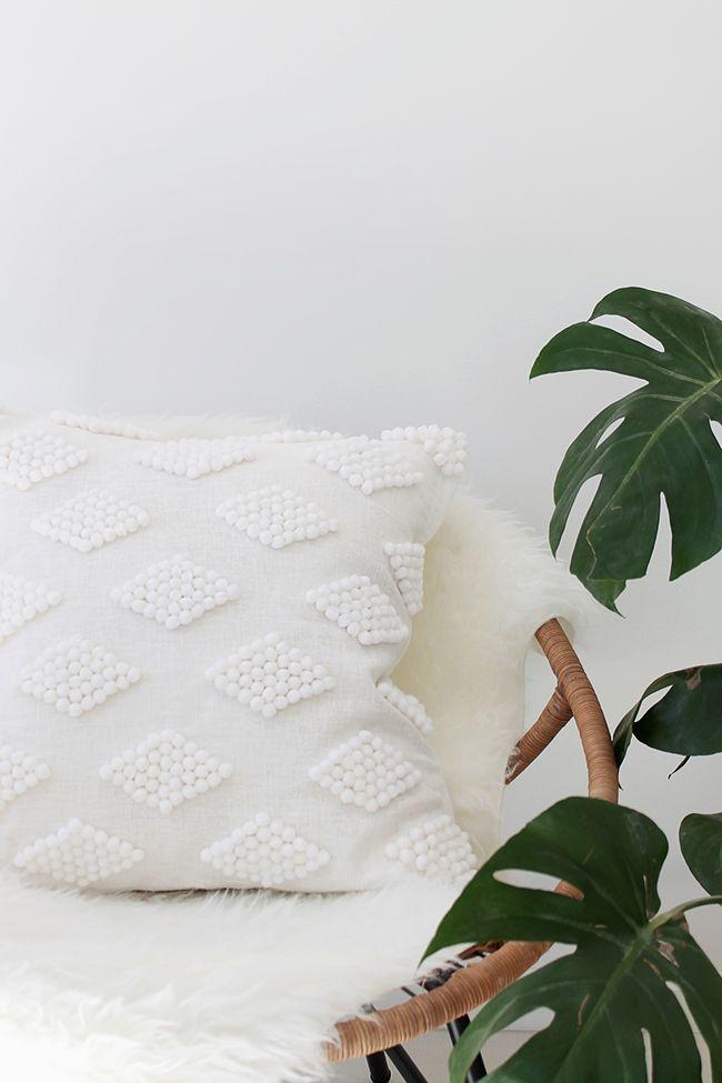 DIY Pom Pom Pillow
