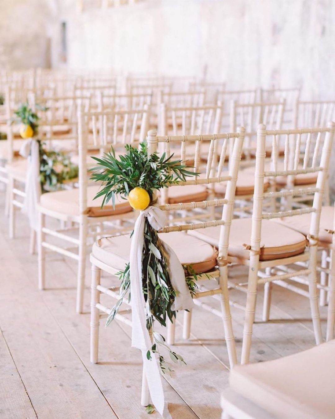 lemon chair decorations