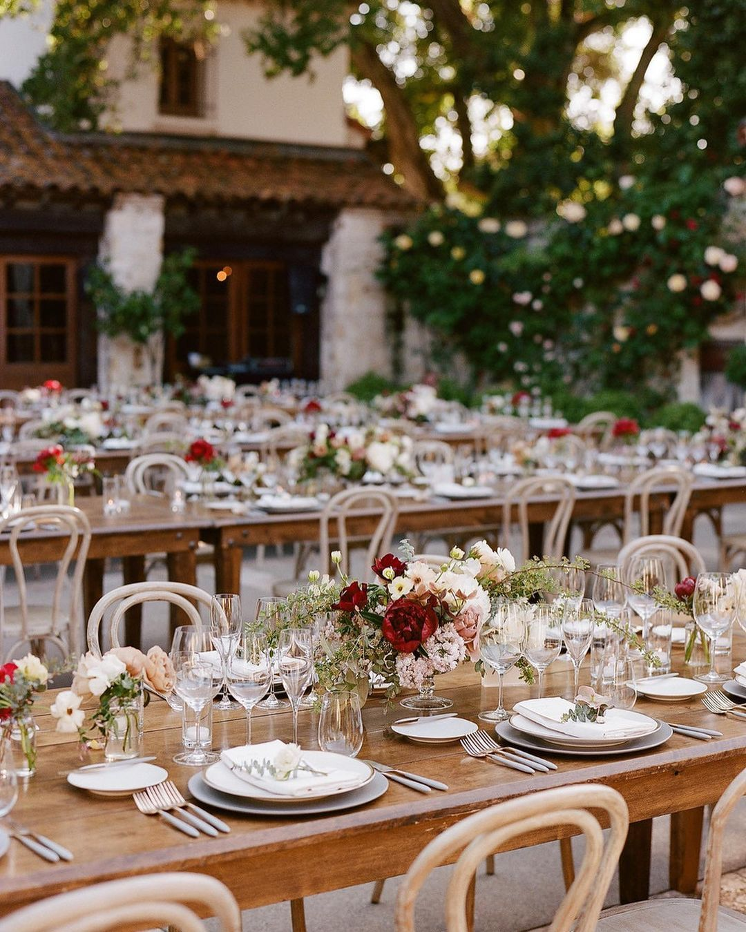 outdoor dinner tables