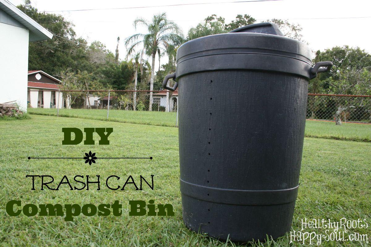 DIY Trash Can Turned Compost Bin