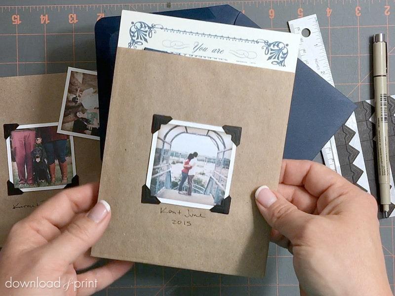 Wedding Invitation Vintage Photo Album