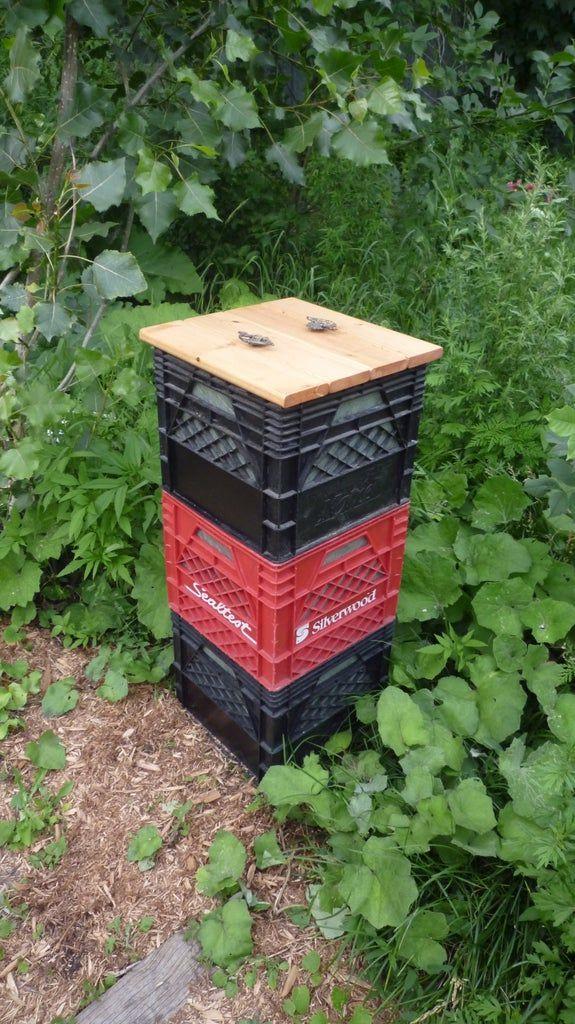 Milk Crate Compost Bins