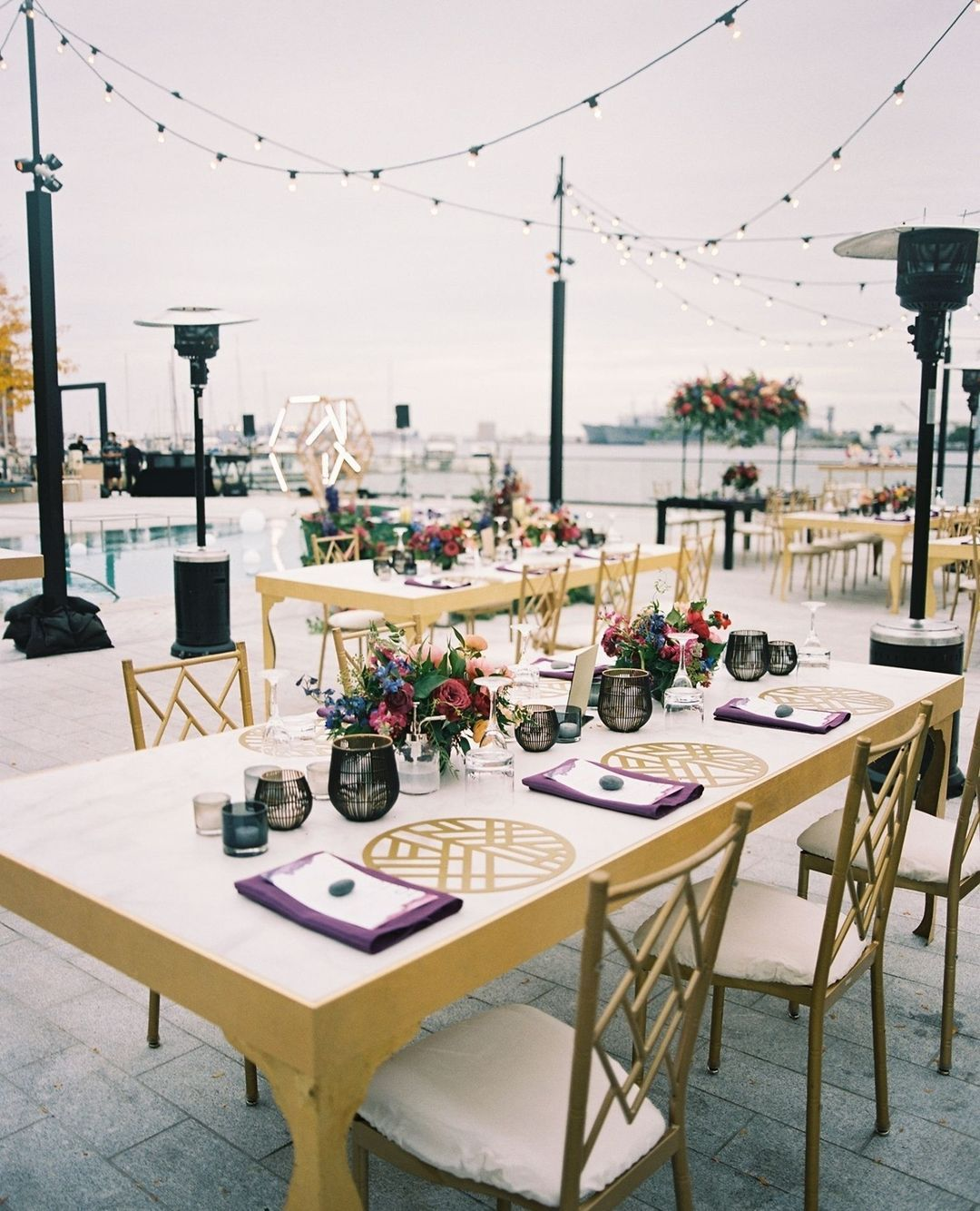Waterfront Wedding Reception