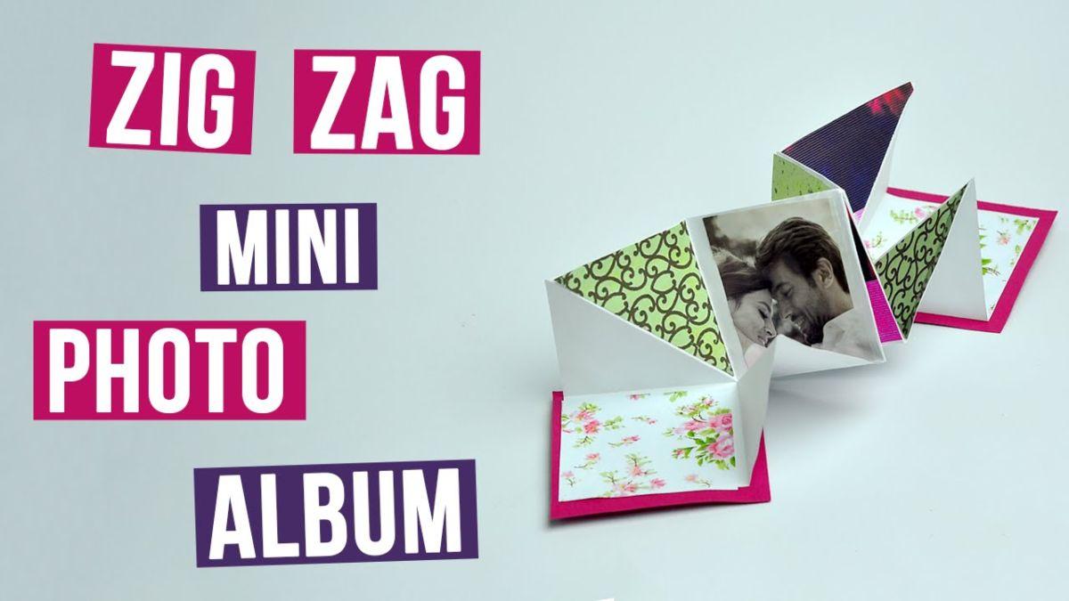 Zig Zag Mini Photo Album