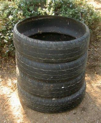 Used Tire Compost Bin