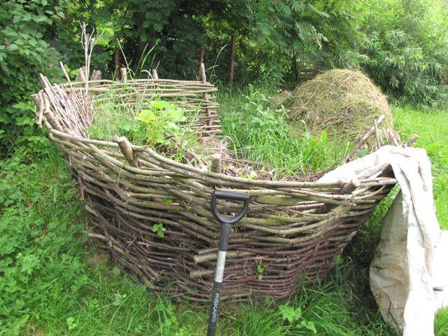 Basket Weave Compost Pit