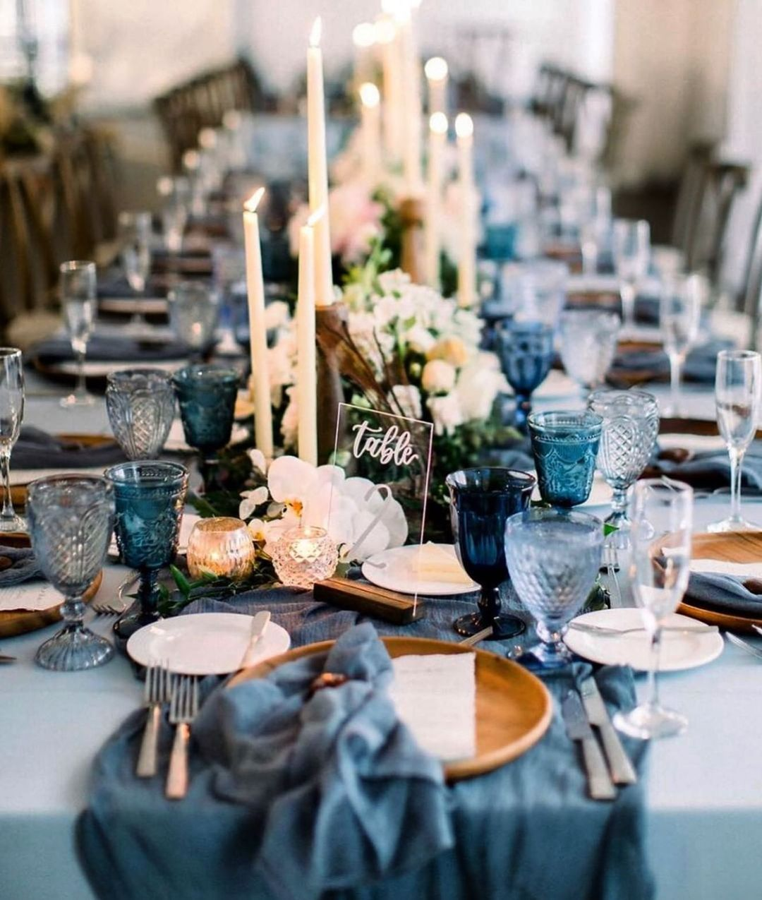 Blue Skies, Blue Waters, And Blue Table Decor