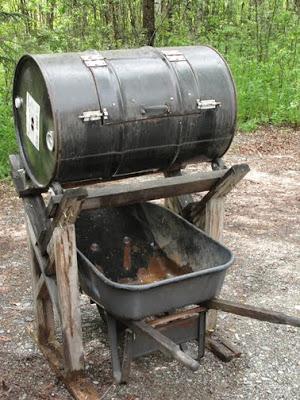 Compost Tumbler In A Cradle DIY