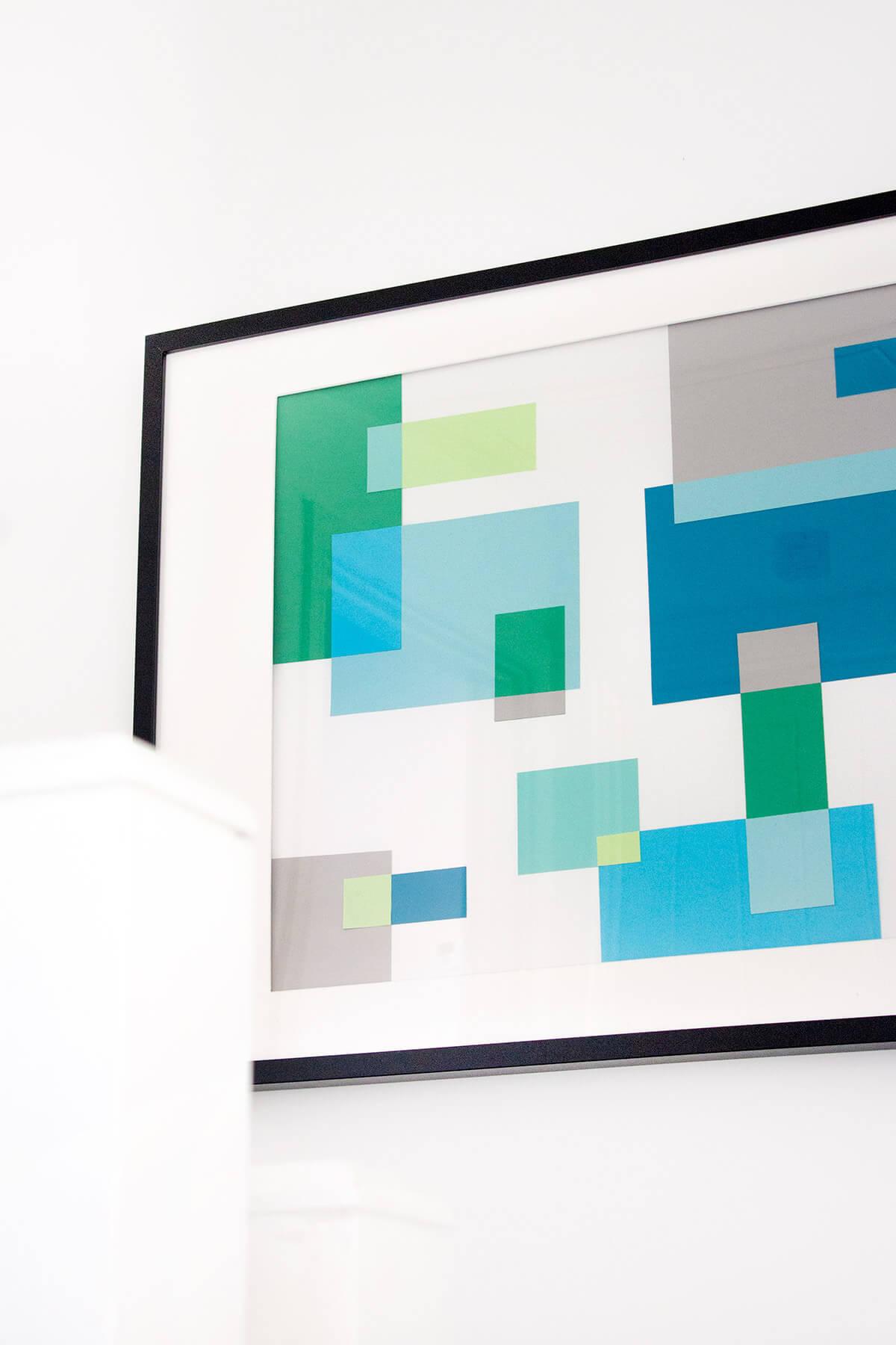 Mondrian-Inspired DIY Abstract Wall Art