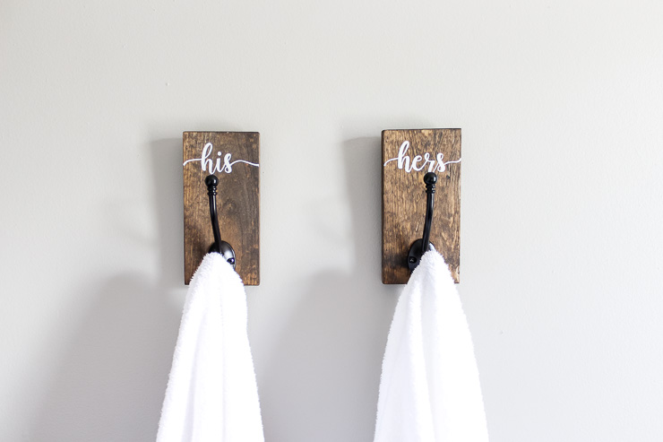 DIY His And Hers Towel Hooks