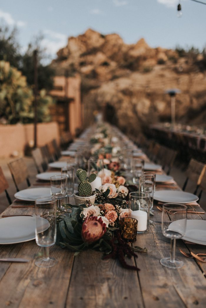 Cacti and Blooms Centerpiece