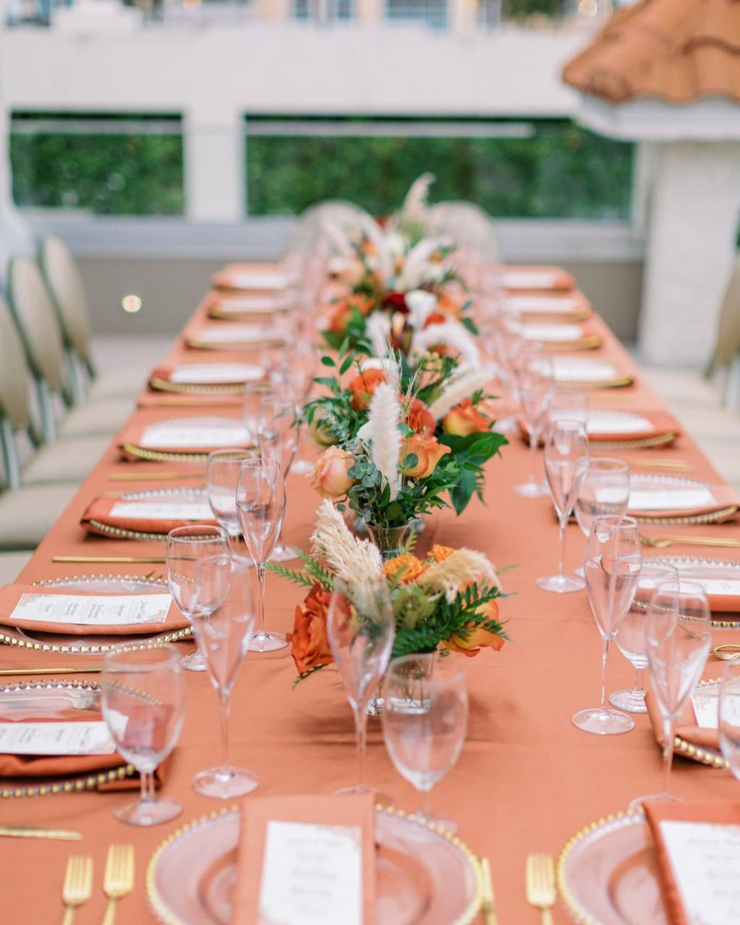 Coral Roses Centerpiece