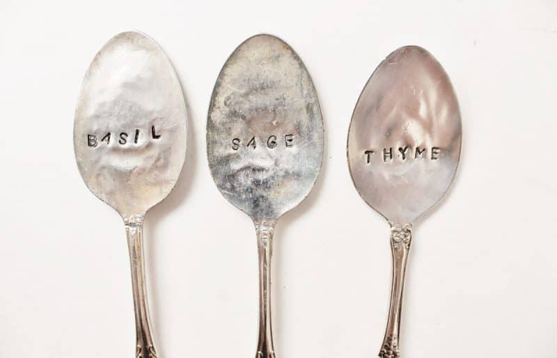 Hand Stamped Vintage Spoons