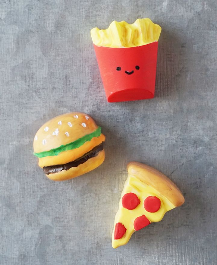 Resin Food Magnets DIY