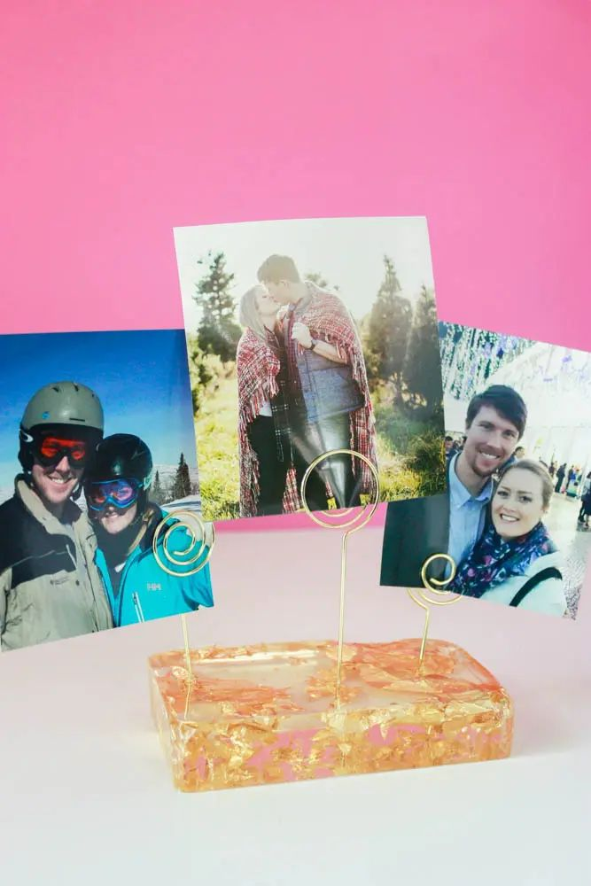 DIY Resin Photo Holder Or Stand