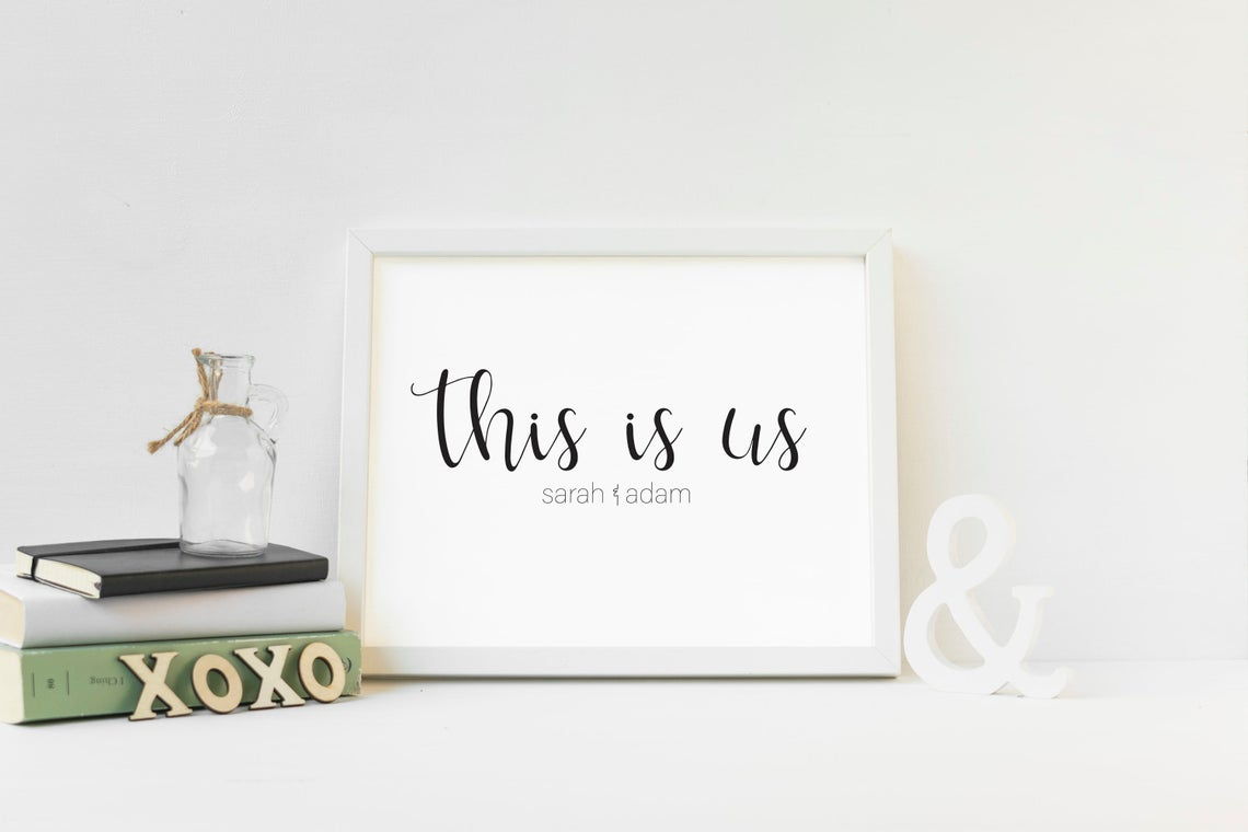 Personalized Couple Name Sign