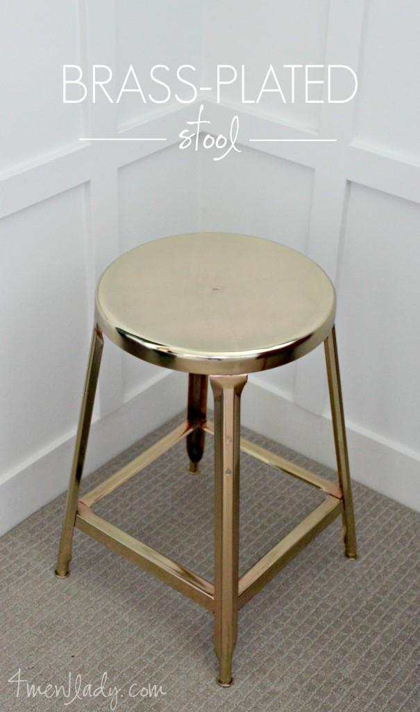 Brass Plated Stool