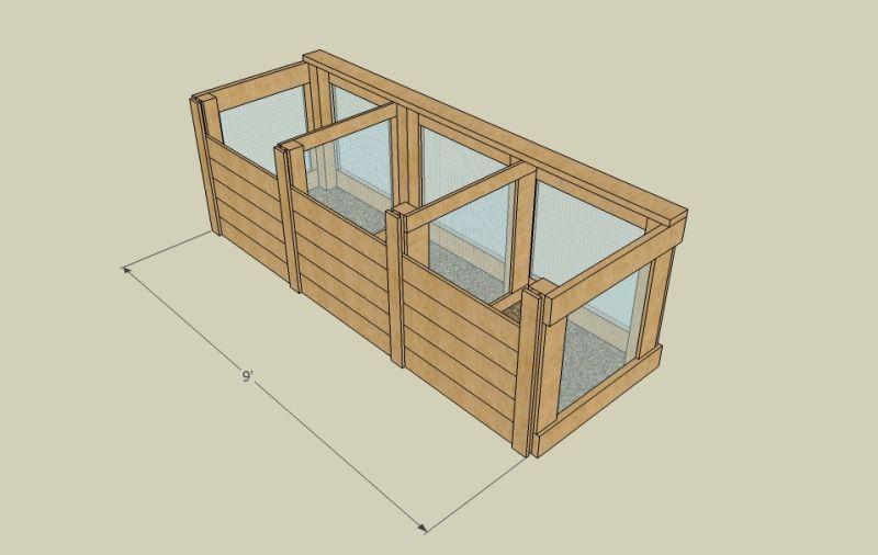 Woodwork Three-Bin Compost System