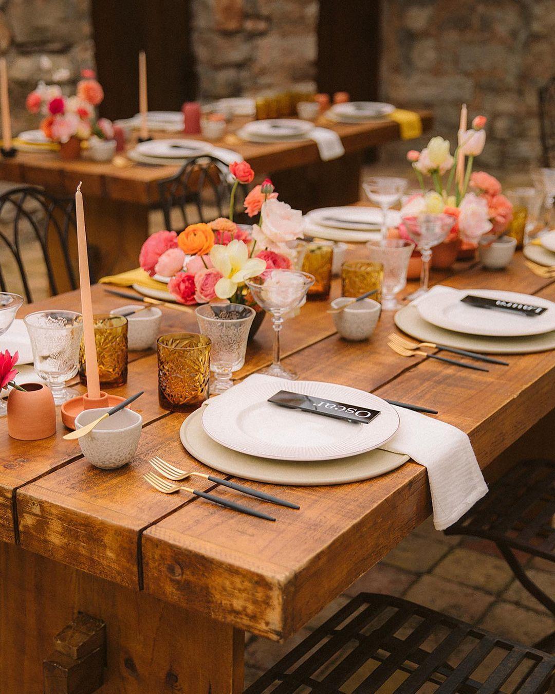 Summer Wedding Table Decor