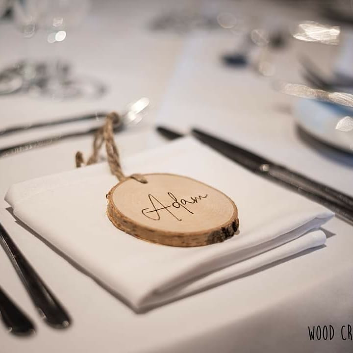 Wooden Seating Card