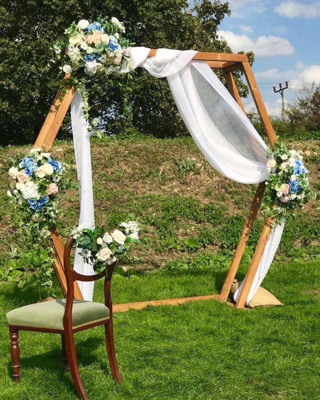 Hexagon wedding arch