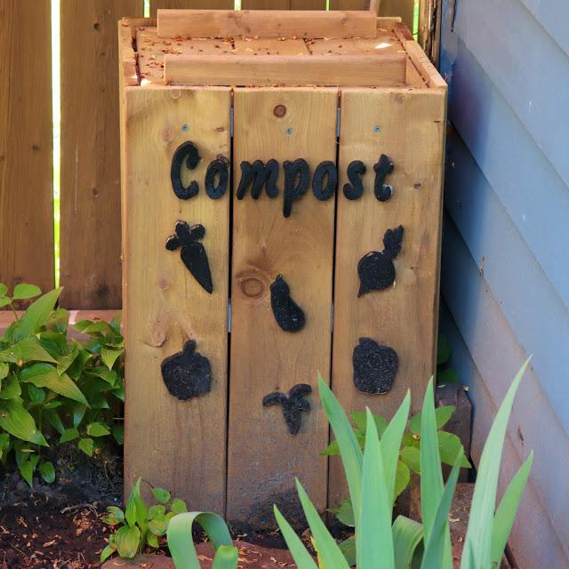 Wooden Crate Compost Bin