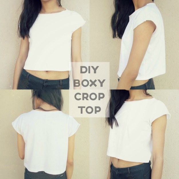 Boxy Crop Top From An Oversized Tee