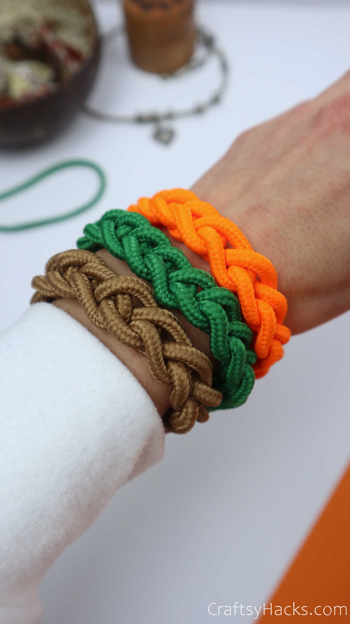 diy bracelets on wrist
