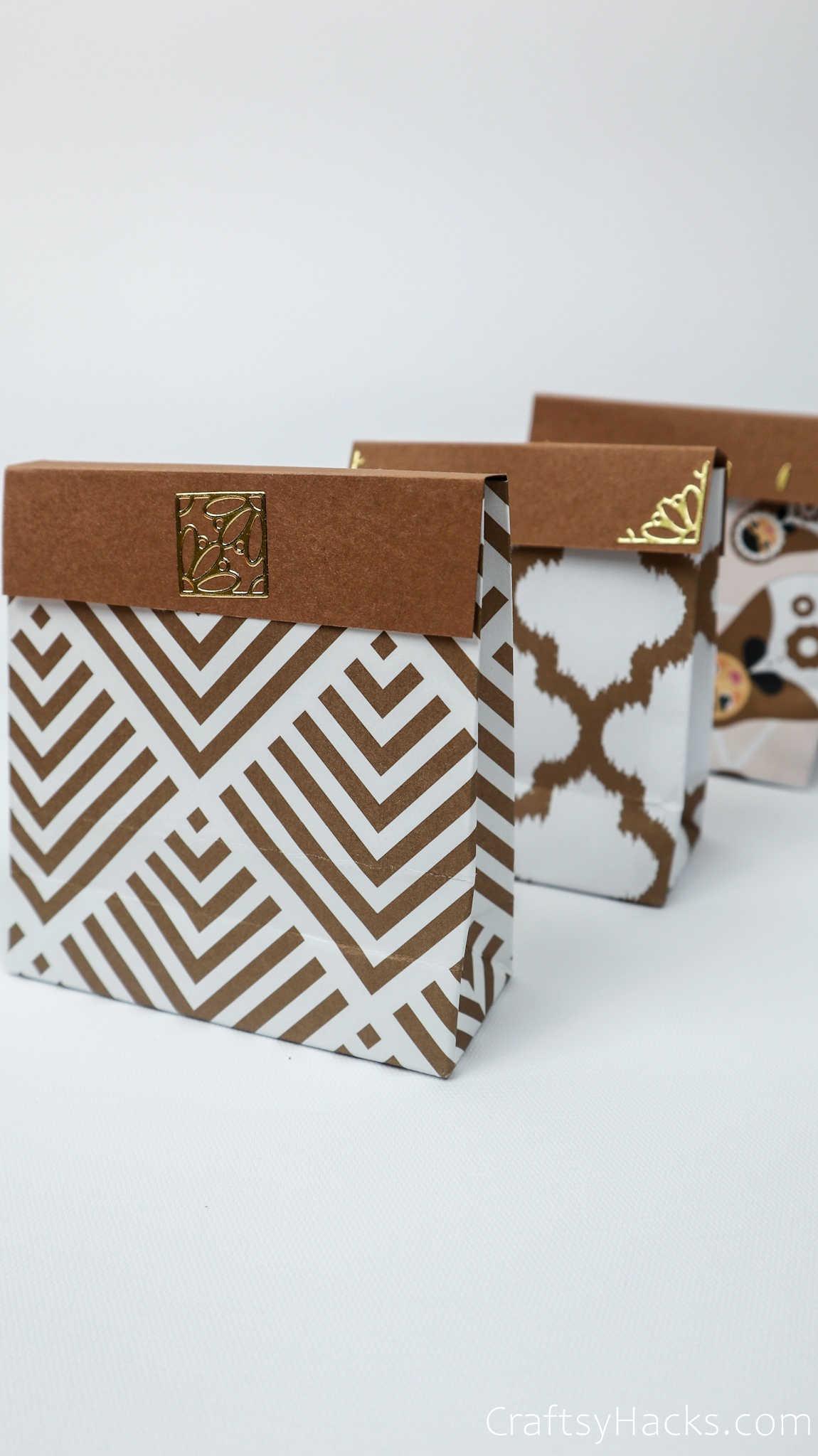 3 handmade gift bags
