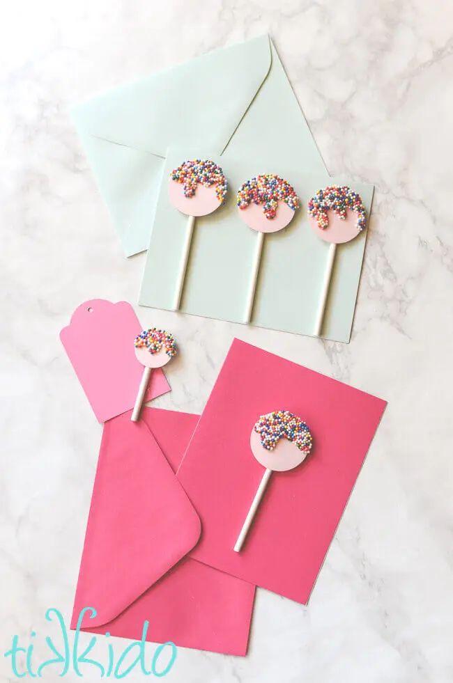 Sprinkles Lollipop Card