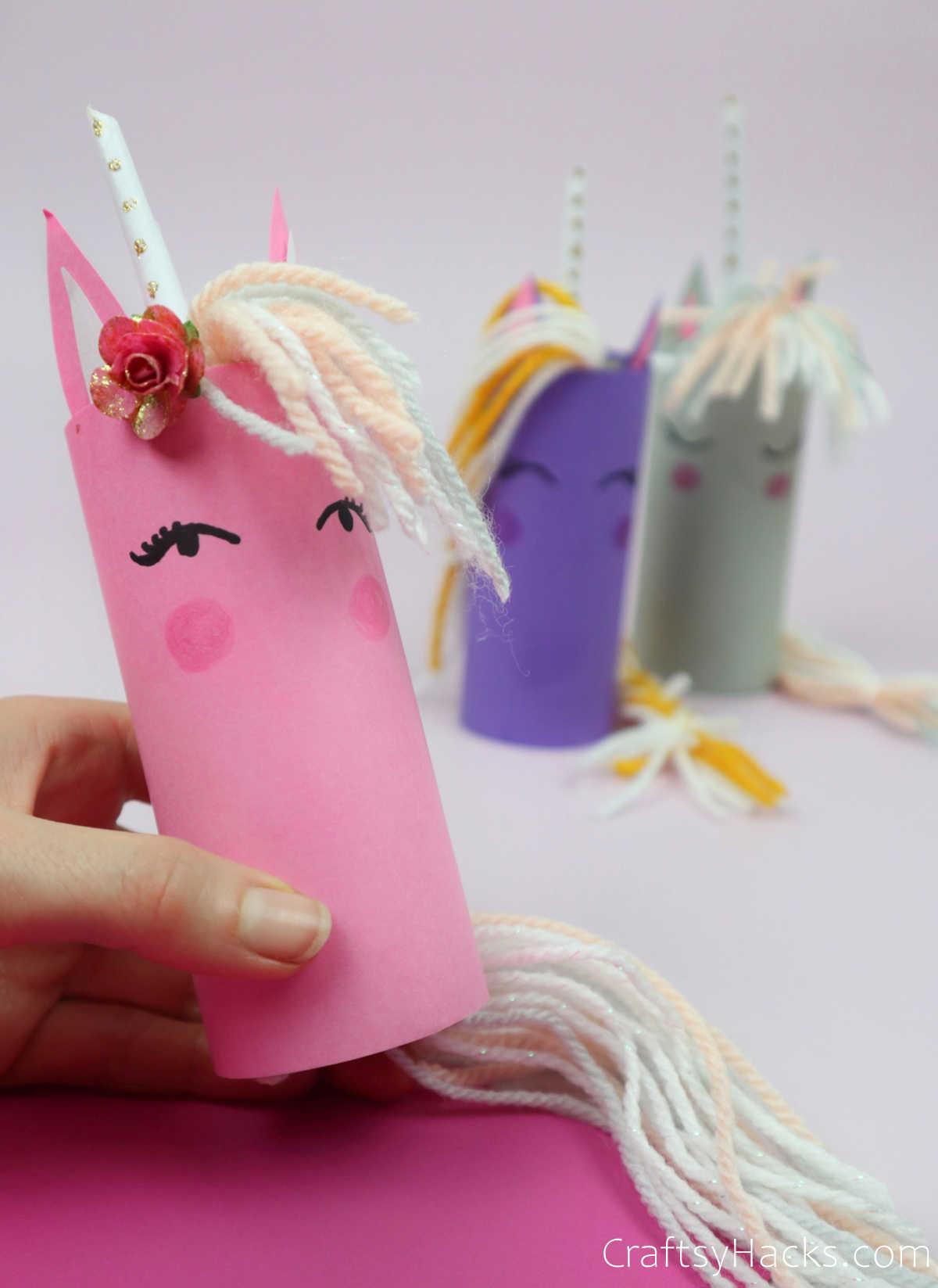 toilet roll unicorns
