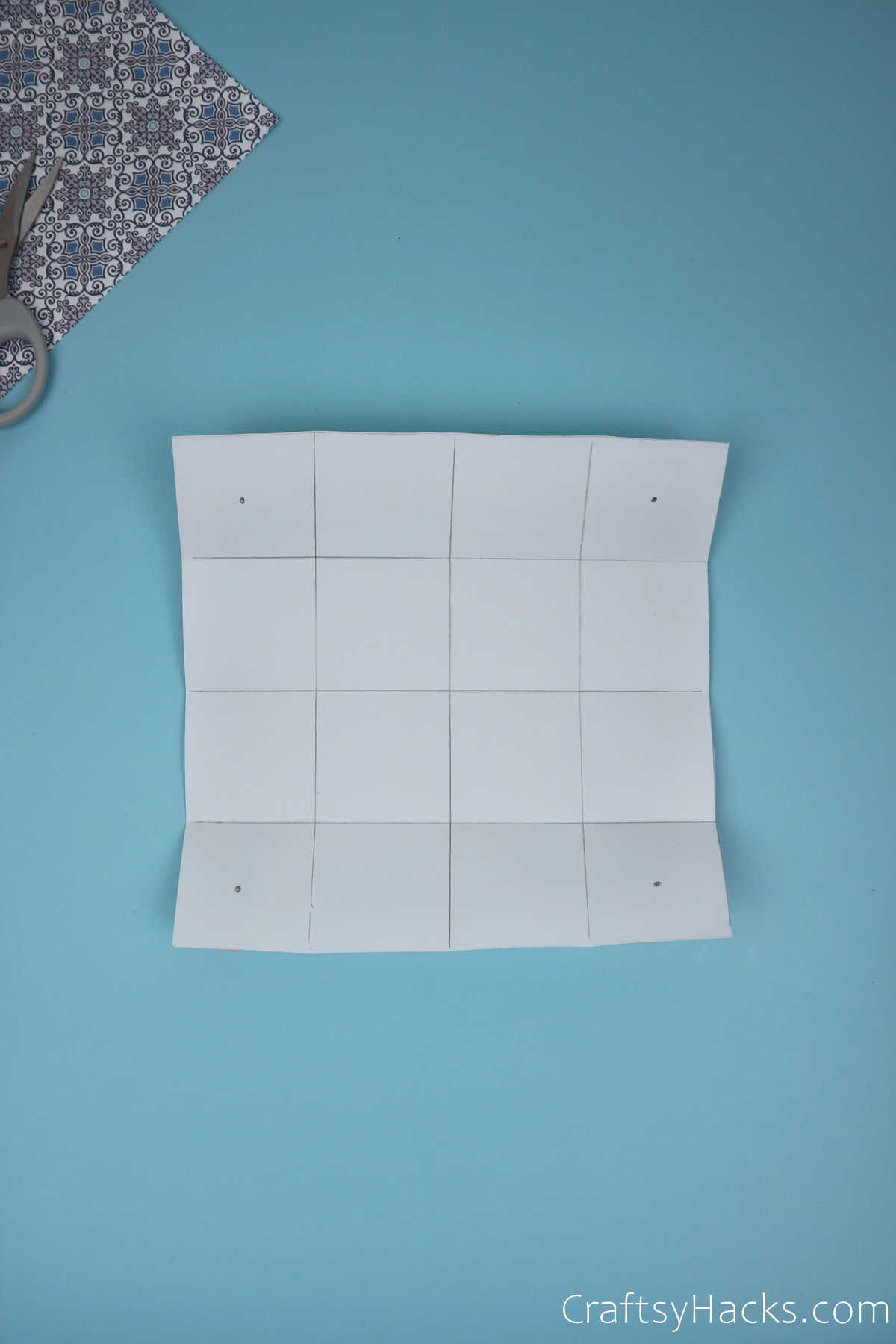 paper with 16 squares
