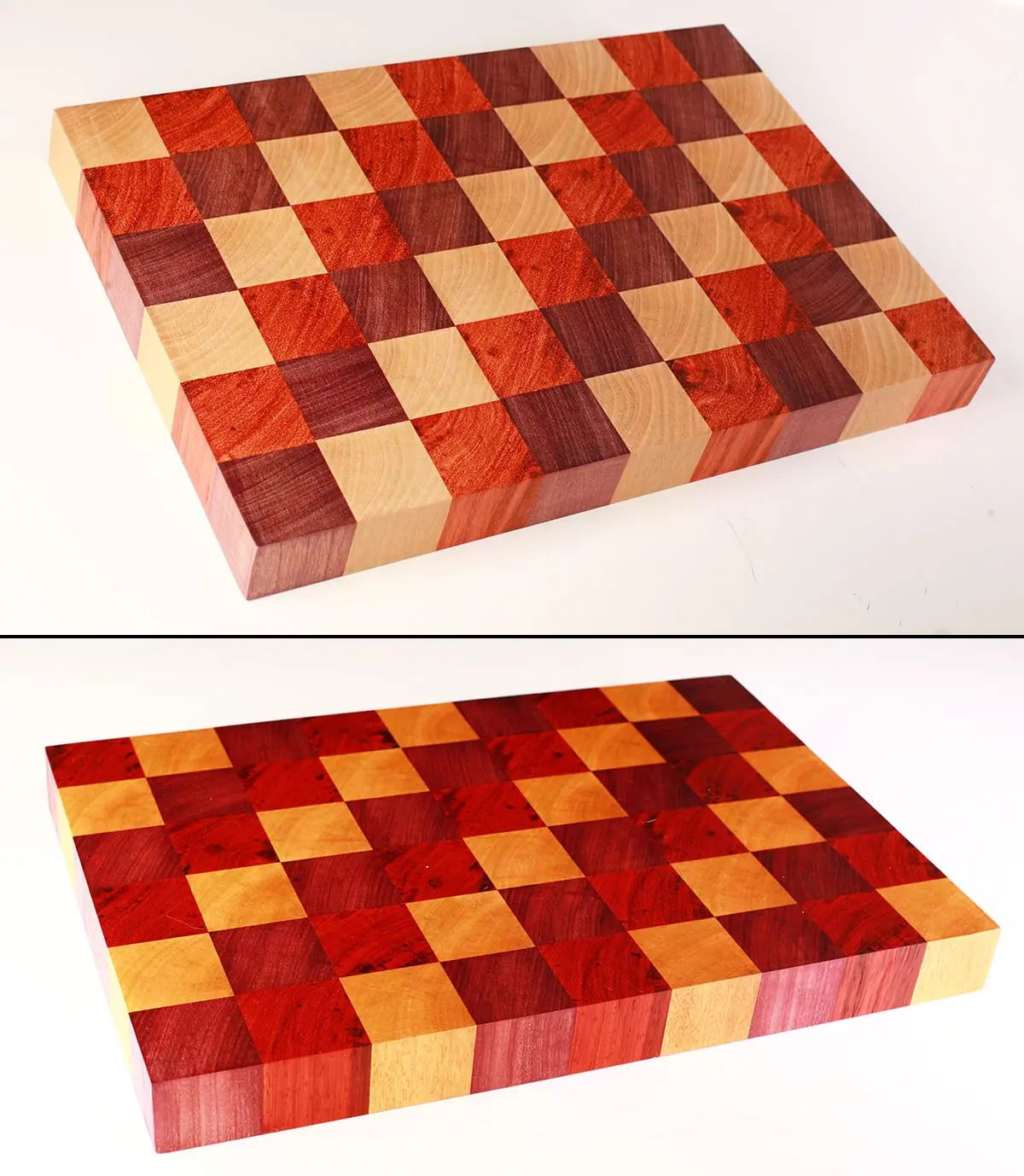 DIY Cutting Board - Log Cabin