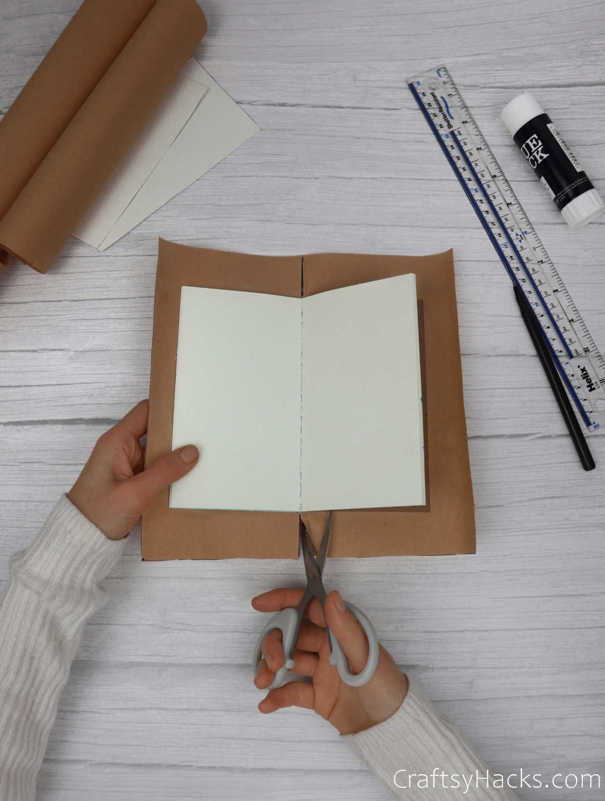 cutting middle of paper