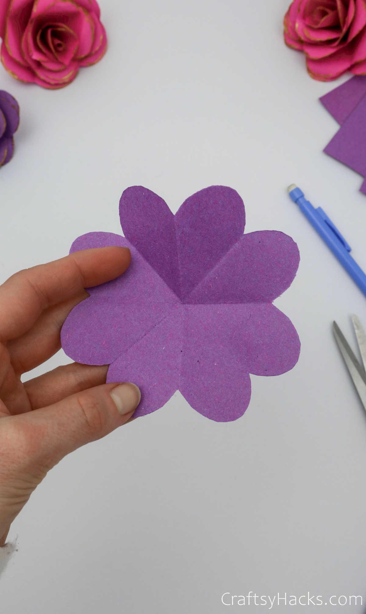 purple flower shape