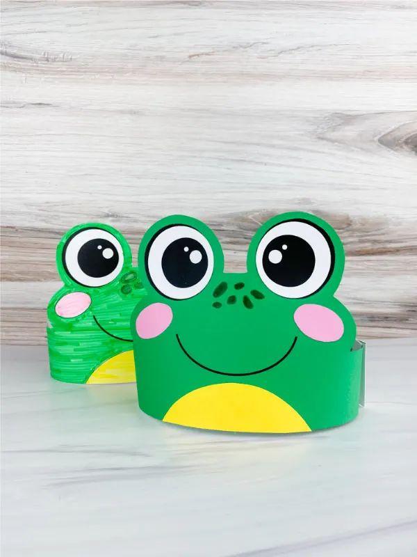 Frog Headband Printable For Kids