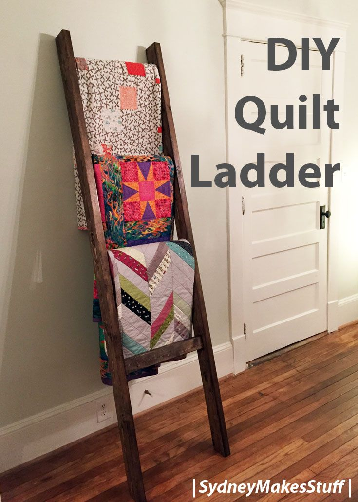 DIY Quilt Ladder
