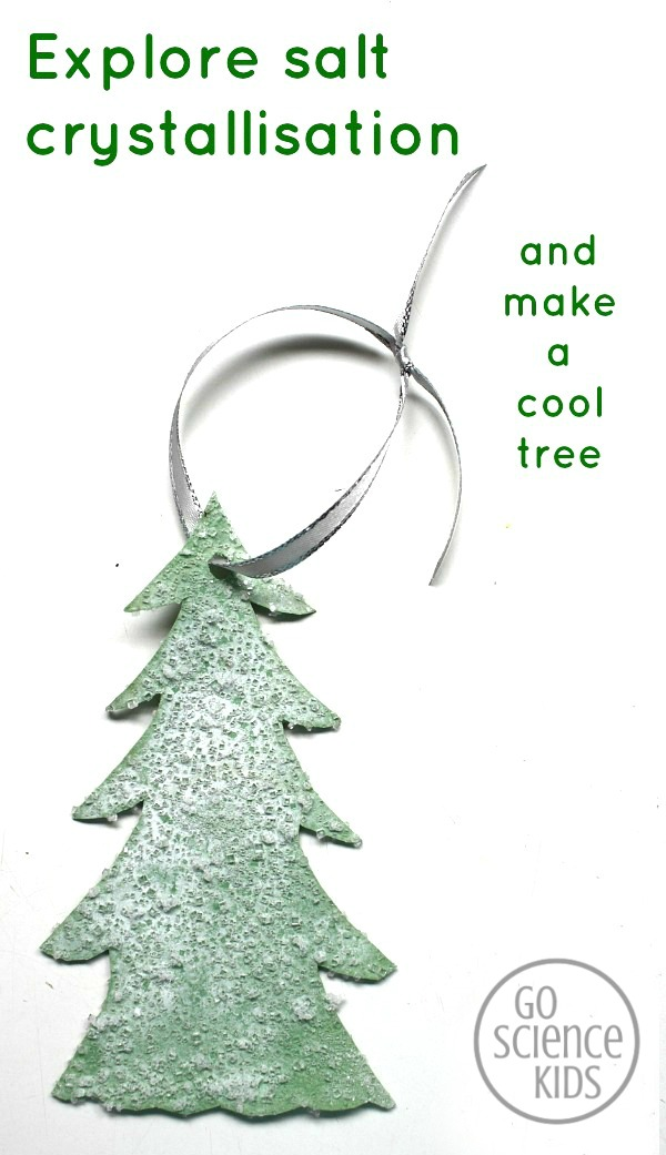 Snowy Salt Crystal Christmas Tree
