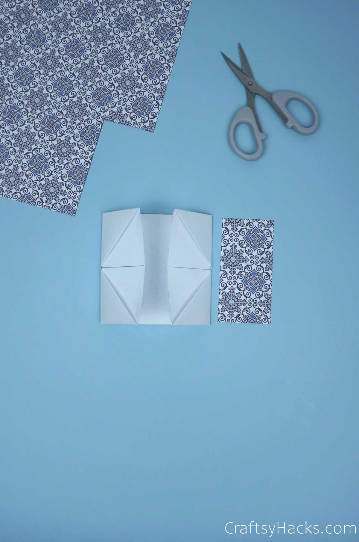 folded paper square