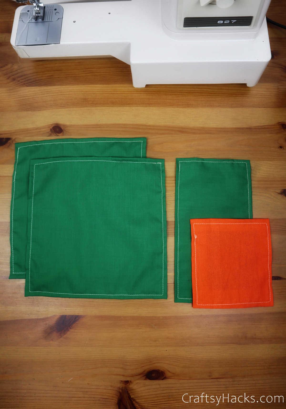 4 sewn pockets
