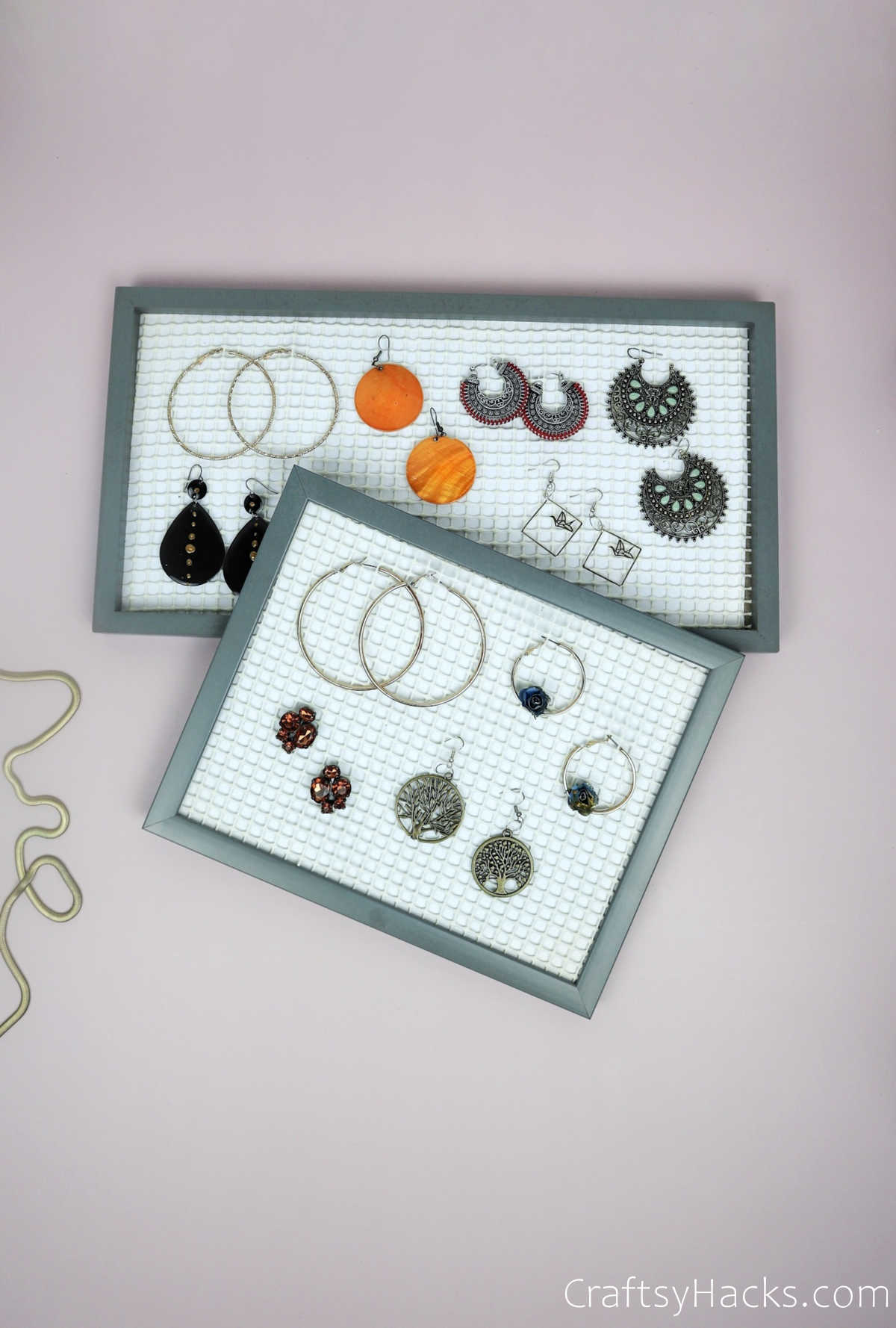 organizers full with earrings