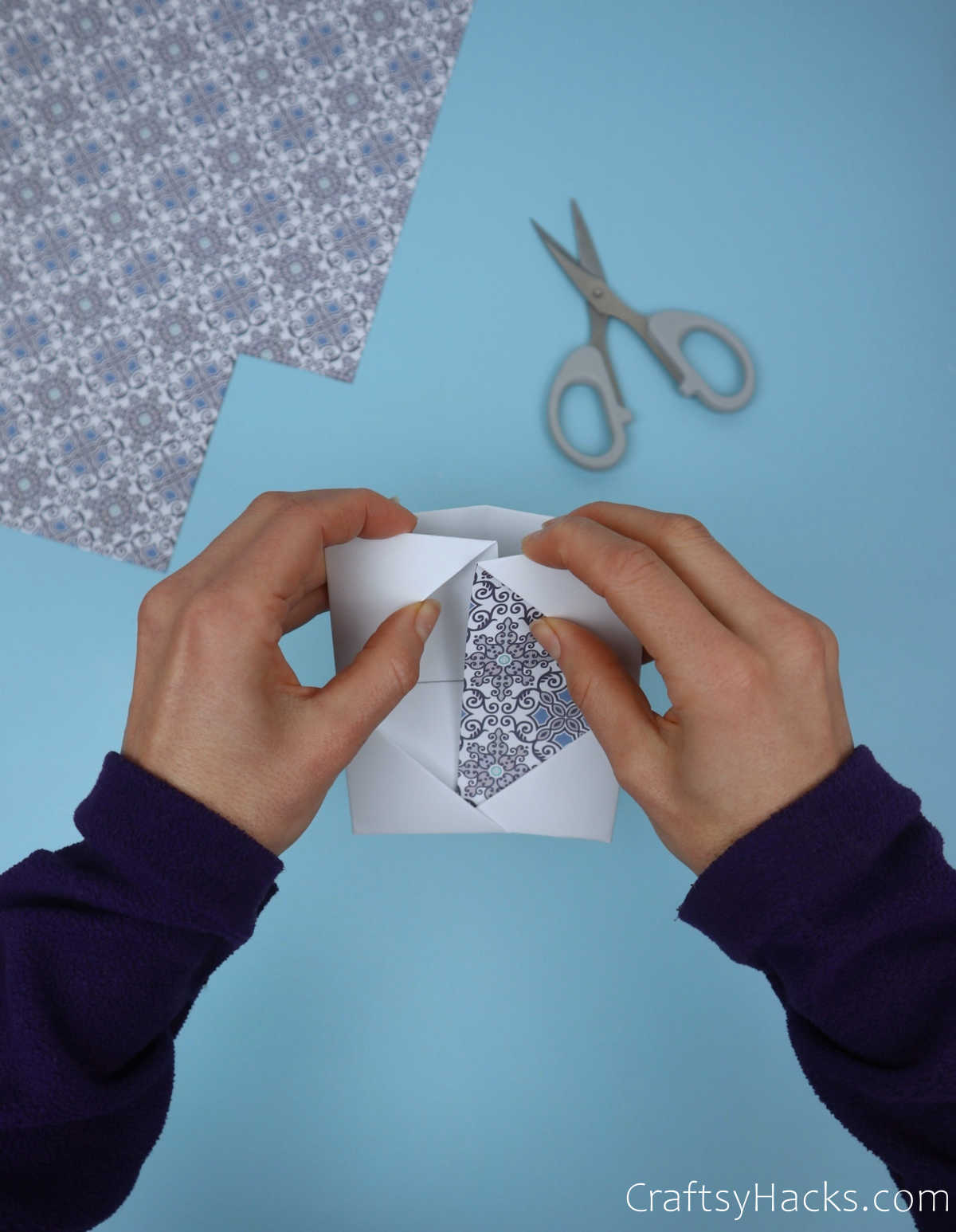 adding patterned paper