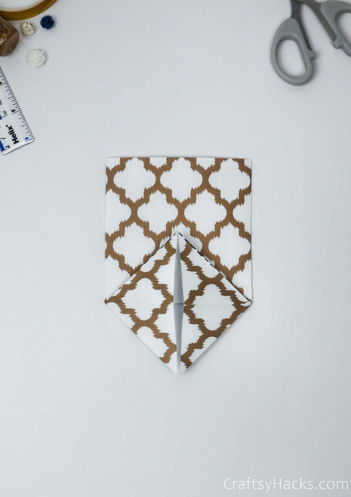 folded open paper