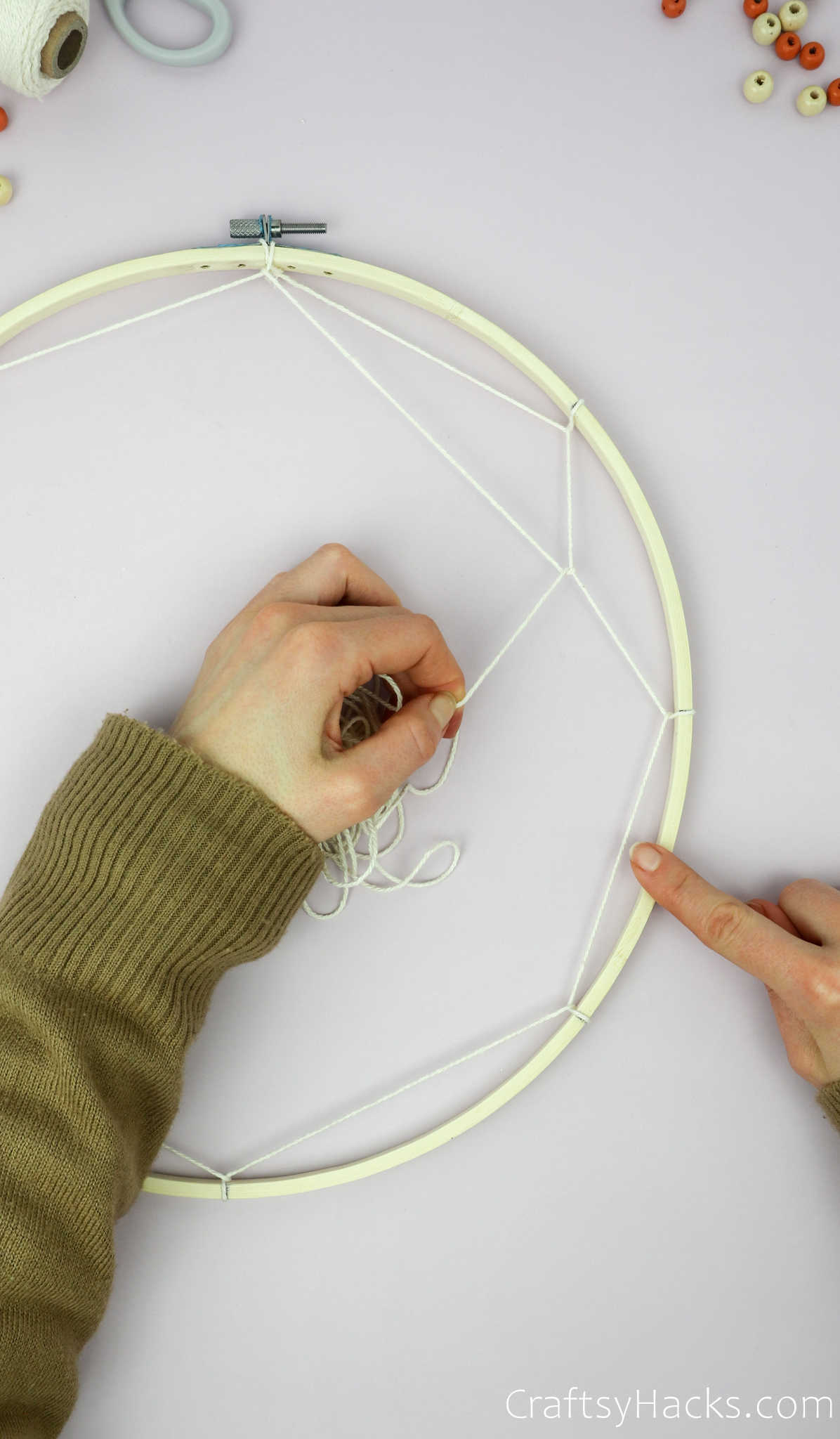 wrapping next row of string