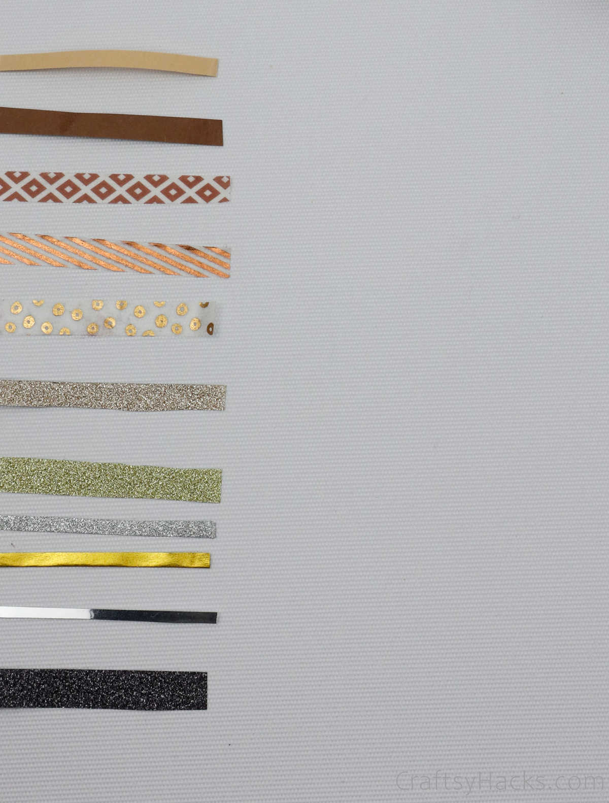strips of washi tape