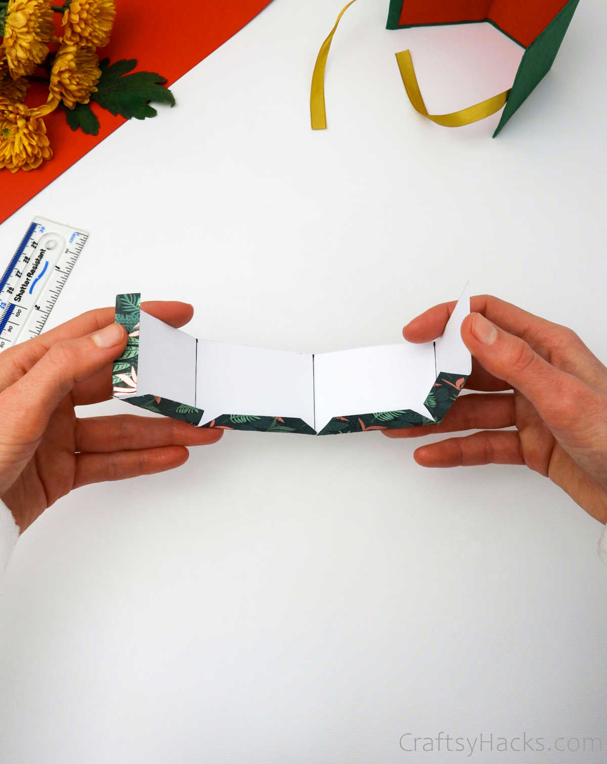 folding gift box together